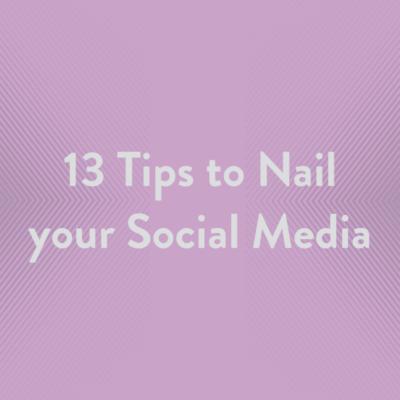 Free Resource 13 Tips Social Media