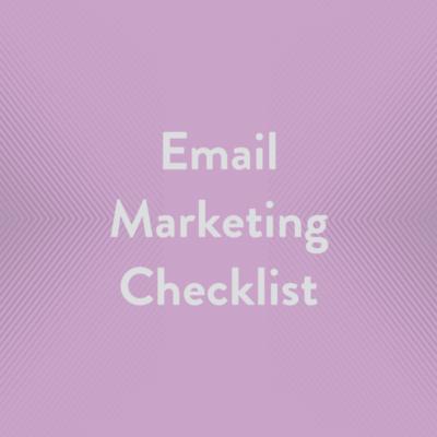 Free Resource Email Marketing Checklist
